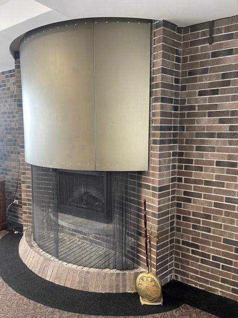 penhouse fireplace